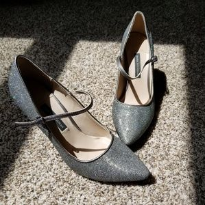 Dana Buchman glitter stiletto high heels